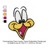 Correcaminos Face Looney Tunes Embroidery Design