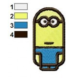 Cylindrical Minions Embroidery Design