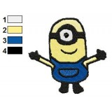 Despicable Me Carl 02 Embroidery Design