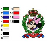 Disney Characters Embroidery Design 1