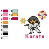 Dora Karate Poster Embroidery Design