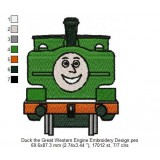 Duck the Great Western Engine Embroidery Design