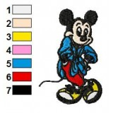 Elegant Mickey Mouse Embroidery Design