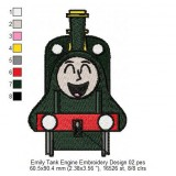 Emily Tank Engine Embroidery Design 02
