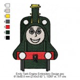 Emily Tank Engine Embroidery Design