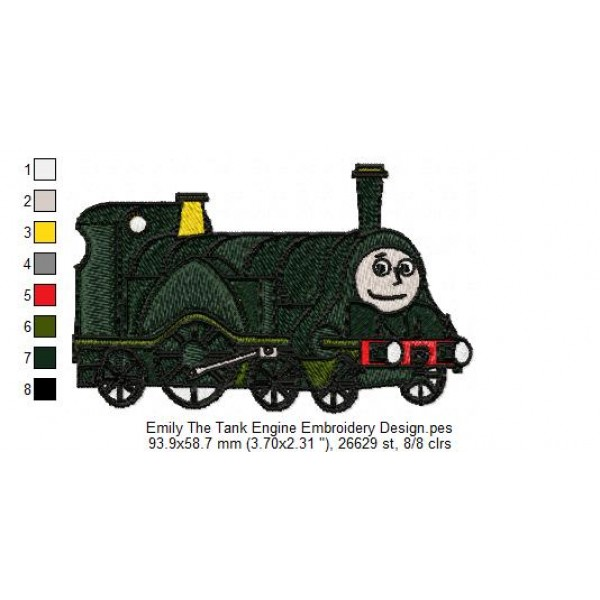Emily The Tank Engine Embroidery Design