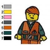Emmett From The Lego Movie Embroidery Design