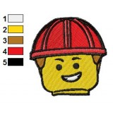 Emmett Head The Lego Movie Embroidery Design