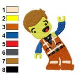 Emmett Lego Movie Embroidery Design