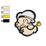 Face Popeye 01 Embroidery Design