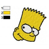Face of Bart Simpson Embroidery Design
