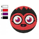 Face of Diavlo Moshi Monsters Machine Embroidery Design