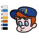 Face of Fix It Felix Jr Embroidery Design