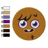 Face of Furi Moshi Monsters Machine Embroidery Design