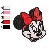 Face of Minnie Mouse Embroidery Design