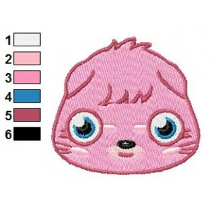 Face of Poppet Moshi Monsters Embroidery Design