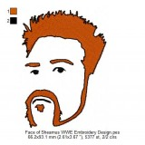 Face of Sheamus WWE Embroidery Design