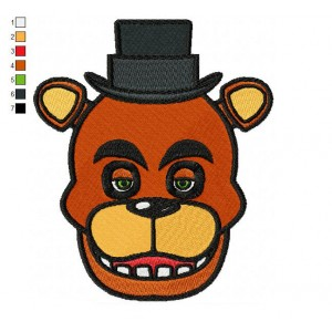 Five Nights Freddy Fazbear Embroidery Design