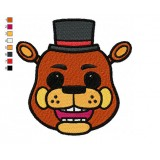 Five Nights Freddy Fazbear Head Embroidery Design