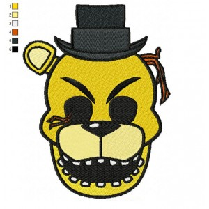 Five Nights Golden Freddy Embroidery Design