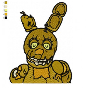 Five Nights Springtrap Embroidery Design