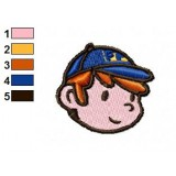 Fix It Felix Jr Face Embroidery Design