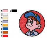 Fix It Felix Jr Logo Embroidery Design