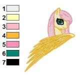 Fluttershy Queen My Little Pony Embroidery Design
