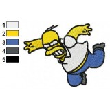 Flying Homer Simpson Embroidery Design