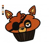 Foxy Cupcake Five Nights at Freddys Embroidery Design
