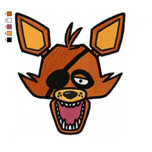 Foxy The Fox Five Nights at Freddys Embroidery Design