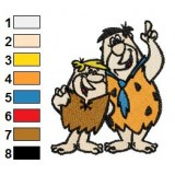 Fred and Rubble Flintstone Embroidery Design