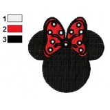 Free Minnie Mouse Bows Embroidery Design