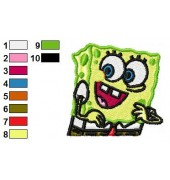 Free Spongebob Embroidery Design