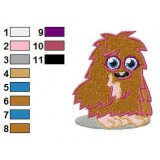 Furi Moshi Monsters Embroidery Design 03