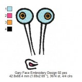 Gary Face Embroidery Design 02