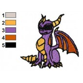 Gentle Spyro Skylanders Embroidery Design