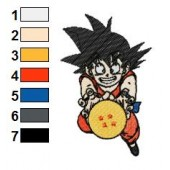 Goku Carries Magic Ball Dragon Ball Z Embroidery Design