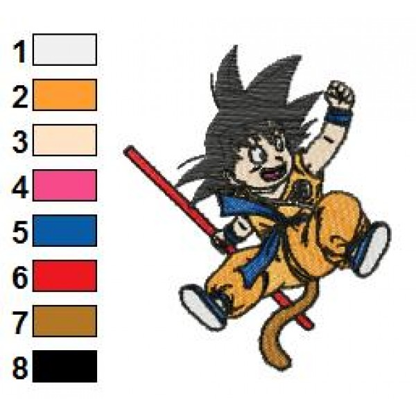Goku Dragon Ball Z Embroidery Design