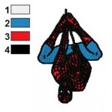 Hanging Spiderman Embroidery Design