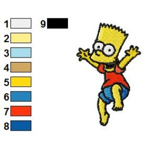 Happy Bart Simpson Embroidery Design