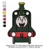 Happy Emily The Tank Engine Embroidery Design
