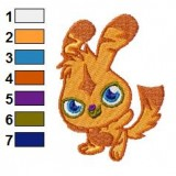 Happy Katsuma Moshi Monsters Embroidery Design