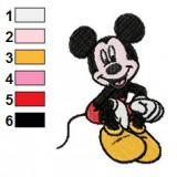 Happy Mickey Mouse Embroidery Design