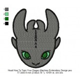 Head How To Train Your Dragon Machine Embroidery Design