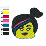 Head Wyldstyle The Lego Movie Embroidery Design