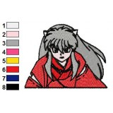 InuYasha The Fighter Embroidery Design