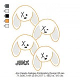 Jinx Heads Applique Embroidery Design 02