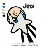 Jinx with the Star Embroidery Design