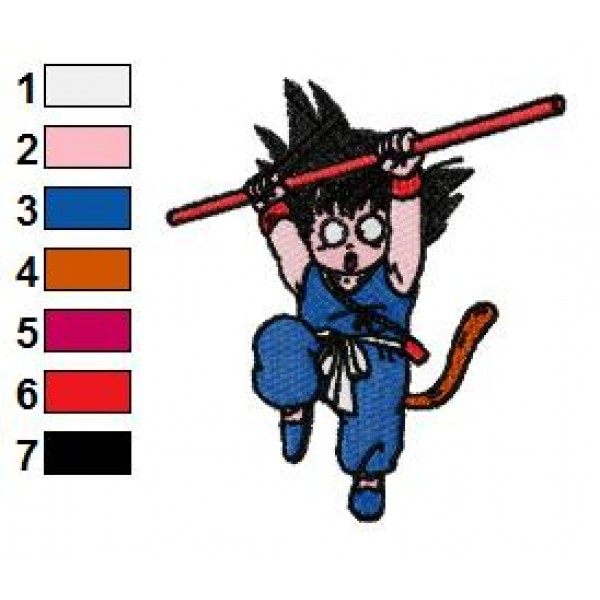 Kid Goku Dragon Ball Z Embroidery Design